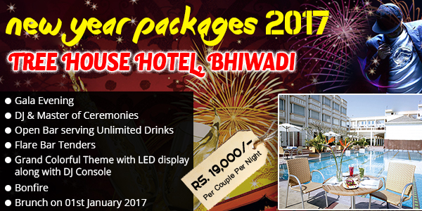 Tree house bhiwadi delhi new year packages 2018 2019 for New home packages